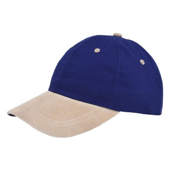 Soft cotton/suede cap